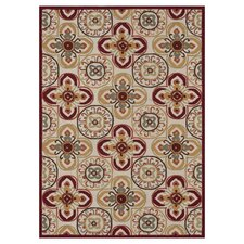 <strong>Loloi Rugs</strong> Juliana Ivory / Red Rug