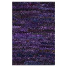 Eliza Shag Grape Area Area Rug