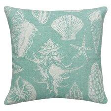 Coastal Seashells 100% Linen Pillow