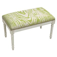 Graphic Upholstered and Wood Bench