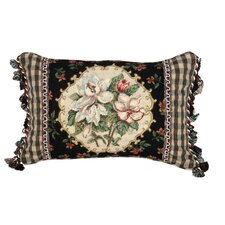 Magnolia 100% Wool Petit - Point Pillow