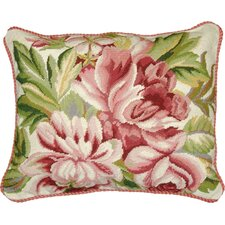 Magnolia Needlepoint Pillow