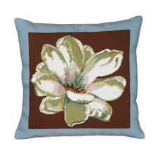 <strong>123 Creations</strong> Magnolia Square Needlepoint Pillow