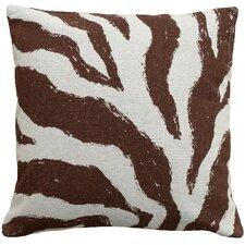 Zebra 100% Linen Screen Print Pillow