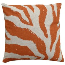 Zebra 100% Linen Screen Print Pillow