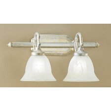 <strong>Classic Lighting</strong> Yorkshire 2 Light Bath Vanity Light