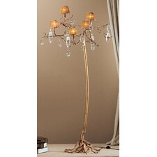Morning Dew 5 Light Chandelier in Natural Bronze