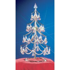 "<strong>Classic Lighting</strong> Cheryls 1' 4"" Grapes Rose Artificial Christmas Tree"