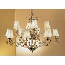 <strong>Classic Lighting</strong> Danube 12 Light Chandelier