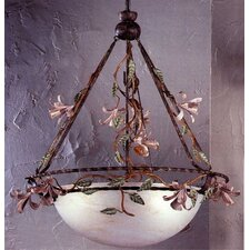 <strong>Classic Lighting</strong> Secret Garden 3 Light Inverted Pendant