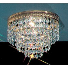 Crystal Baskets Light Semi-Flush Mount