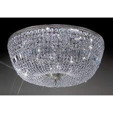 Crystal Baskets 12 Light Semi-Flush Mount
