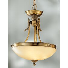 <strong>Classic Lighting</strong> Lauren 3 Light Inverted Pendant