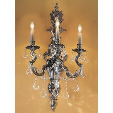 <strong>Classic Lighting</strong> Majestic Imperial 3 Light Wall Sconce