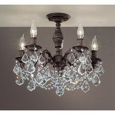 <strong>Classic Lighting</strong> Chateau Imperial 5 Light Semi-Flush Mount