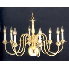 <strong>Classic Lighting</strong> Classic Willaimsburgs 8 Light Chandelier