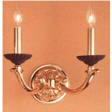 <strong>Classic Lighting</strong> Orleans 2 Light Wall Sconce