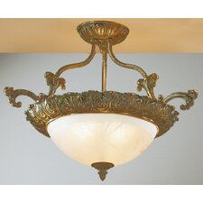 <strong>Classic Lighting</strong> Montego Bay 3 Light Semi-Flush Mount