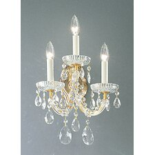 <strong>Classic Lighting</strong> Maria Thersea 3 Light Wall Sconce