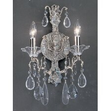 <strong>Classic Lighting</strong> Garden of Versailles 2 Light Wall Sconce