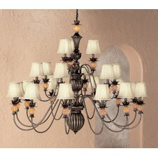 <strong>Classic Lighting</strong> Topaz 21 Light Chandelier