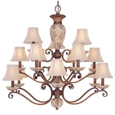 <strong>Classic Lighting</strong> Tapestry 15 Light Chandelier