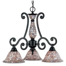 <strong>Classic Lighting</strong> Pearl River 3 Light Chandelier