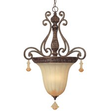 <strong>Classic Lighting</strong> Riviera 3 Light Inverted Pendant