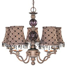 <strong>Classic Lighting</strong> Caprice 5 Light Chandelier