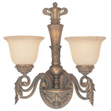 <strong>Classic Lighting</strong> Savannah 2 Light Wall Sconce