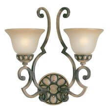 <strong>Classic Lighting</strong> Westchester 2 Light Wall Sconce