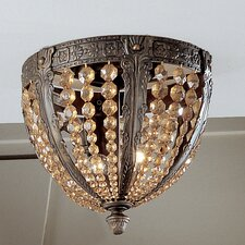 <strong>Classic Lighting</strong> Merlot 2 Light Semi-Flush Mount