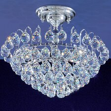 Diamante 3 Light Semi-Flush Mount