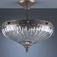 <strong>Classic Lighting</strong> Warsaw 3 Light Semi-Flush Mount