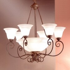 <strong>Classic Lighting</strong> Portofino 9 Light Chandelier