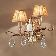 <strong>Classic Lighting</strong> Morning Dew 2 Light Wall Sconce