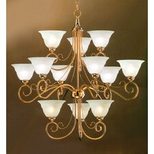 <strong>Classic Lighting</strong> Torino 12 Light Chandelier
