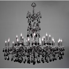 Via Lombardi 24 Light Chandelier