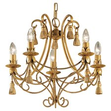 Rope and Tassel 5 Light Chandelier