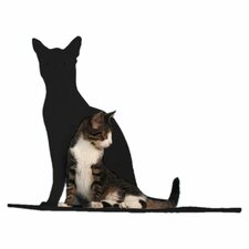 "23"" Cat Silhouette Cat Shelf Perch"