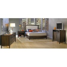 Dominion Leather Upholstery Panel Bedroom Collection