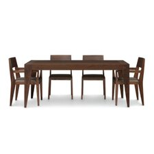 "Kyoto 60-84""W 5 Piece Dining Set"
