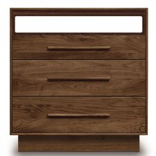 Moduluxe 3 Drawer Dresser with Media Oranizer