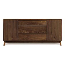 <strong>Copeland Furniture</strong> Catalina 3 Drawers in Center Buffet with Hutch