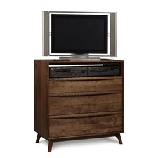 <strong>Copeland Furniture</strong> Catalina 3 Drawer Chest and Media Organizer