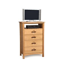 <strong>Copeland Furniture</strong> Berkeley 4 Drawer Chest with Media Organizer