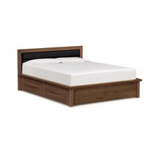 Moduluxe Storage Bed with Upholstered Microsuede Headboard