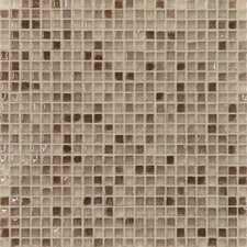 "Fashion 1/2"" x 1/2"" Glass Mosaic in Mix Fashion Sand"