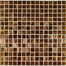 "<strong>Casa Italia</strong> Bronze/Gold Monocolor 13"" x 13"" Glass Mosaic in Marrone Monocolor Bronze"