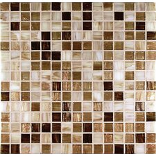 "<strong>Casa Italia</strong> 13"" x 13"" Glass Mosaic in Mix Gold"